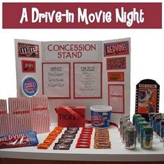 Fun drive-in movie theme party