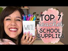 Favorite Teacher School Supplies - YouTube School Supplies For Teachers, Teacher Pay Teachers, Back To School Checklist, Teacher Favorite Things, Teaching, Writing, Education, Youtube, Onderwijs