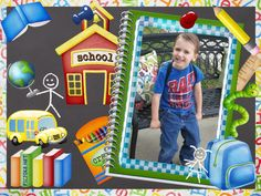 My baby on his first day of pre-K! I found this cute photo frame on picjoke.net — Every day they have a new photo effect!