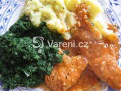 Můj oblíbený recept na krůtí prsa. Vareni.cz - recepty, tipy a články o vaření. Curry, Food And Drink, Chicken, Cooking, Ethnic Recipes, Party Time, Diet, Kitchen, Curries