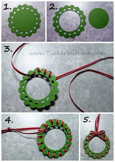 Tinker With Ink & Paper: Ornament #12: Cardinal Wreath