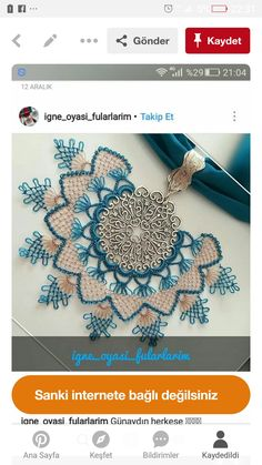 Moda Emo, Needle Lace, Beaded Flowers, New Hair, Dream Catcher, Beaded Jewelry, Knit Crochet, Crochet Necklace, Paper Crafts