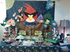 Angry bird candy table