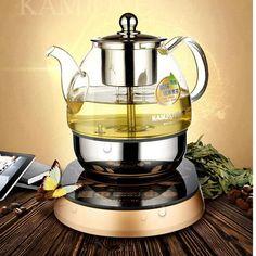 shipping KAMJOVE A - 99 electric teapot the boiled tea electric tea kettle machine automatic boiling tea glass pot Coffee Set, Drip Coffee Maker, Verre Design, Heat Resistant Glass, Tea Tray, Tea Ceremony, Coffee Machine, Kitchen Gadgets, Kettle