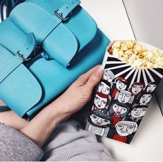 Cinematique Popcorn in Turquoise - leather backpack made by @grafea at www.grafea.com