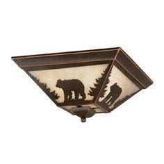 140$Cascadia Lighting Bozeman 14-in W Burnished Bronze Ceiling Flush Mount Light
