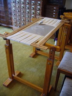 perfect embroidery table from the Lesage workroom.