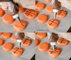 Craftibilities: Basketball TREATS - Party or Team Mom IDEAS! Any sport - baseball, soccer, softball