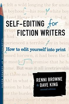 """""""Why self-editing? Because self-editing is probably the only kind of editing your manuscript will ever get."""" From self-editing for fiction writers by Renni Browne and Dave King. Editing Writing, Writing Process, Fiction Writing, Writing Advice, Writing Resources, Writing Help, Writing A Book, Writing Ideas, Writing Skills"""