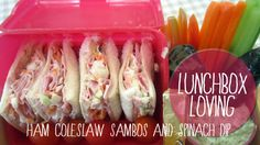 2 Lunch box loving ham and coleslaw #lunchboxloving #villagevoices