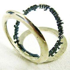 Jonathan Boyd  Ring: Hidden Message 2010  Silver, Oxidised Silver