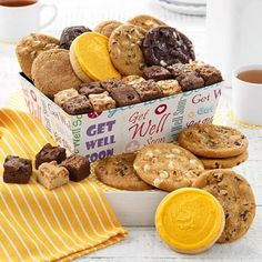 Get Well Gift Baskets - Mrs. Fields Get Well Soon Cookie Crate Mini Brownie Bites, Mini Brownies, Get Well Gift Baskets, Gift Crates, Feeling Under The Weather, Get Well Soon Gifts, Cookie Frosting, Freshly Baked, Feel Better
