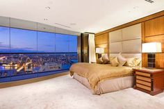 Sydney's Luxury Penthouse Apartment 6 Penthouse For Sale, Luxury Penthouse, Luxury Homes Interior, Luxury Apartments, Apartment Interior, Apartment Design, Penthouse Apartment, Bedroom Layouts, Suites