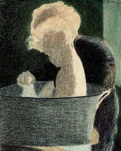 Léon Spilliaert (1881 – 1946, Belgian)  Le Bain