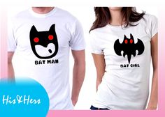 >>BATMAN BATGIRL  Gift for boyfriend / girlfriend?Purchase our Couple shirts at our Introductory price! For inquiries & Customization, Message us on FB for further details.  :) https://www.facebook.com/HisAndHersWear #coupleshirt #coupletee #Tshirt #Tee #Love #Customize #batman #batgirl