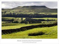 Addlebrough from Askrigg, Wensleydale, Yorkshire Dales, England