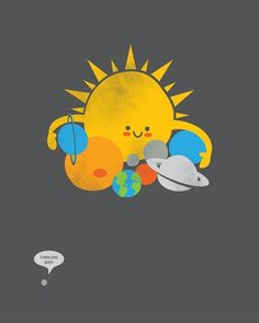 astronomy, planets, outer space, sun, poor pluto, cartoons, art, illustration