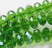 10pc Green Swarovski Crystal Beads 6x8m.  by SofiasCottage on Etsy, $2.00