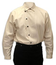 use two shirts?  Add the placket of one to the other at an angle  //  Floyd Side-Button Shirt