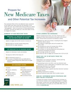 "The combined effect of the new Medicare taxes contained in the health care reform law with the expiration of the ""Bush Tax Cuts"" has created what some pundits are calling ""Taxmageddon."" Here is a summary of these potential tax increases, how they will affect you, and some ideas of how to mitigate the impact."