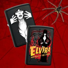The Mistress of the Dark is Celebrating 25 Years! Check out our B-Rated Elvira lighters! #Elvira #Zippo