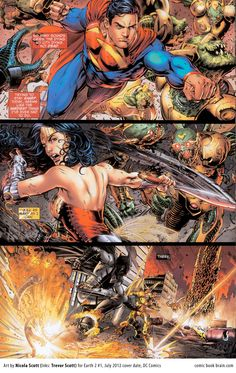 Earth 2 Page by Nicola Scott