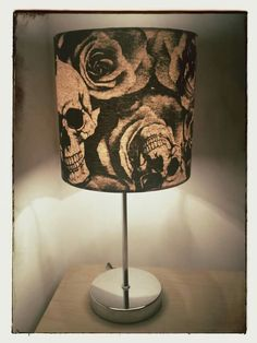 Awesome skull and rose lamp