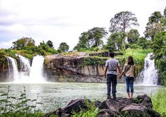 Dray Sap water fall in Nam Da Commune, Krong No District, Dak Nong Province, 30km from Buon Ma Thuot City. Dray Sap is the name in the E De language which means the Misty Waterfall.