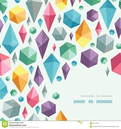 Hanging Geometric Shapes Corner Pattern Background Stock Photos ...