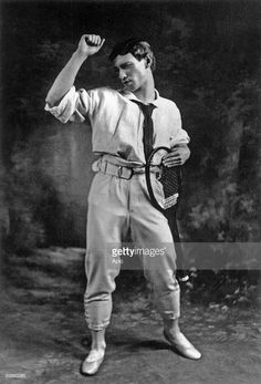 Vaslav Nijinsky (1890-1950) russian dancer of polish origins here in his tennis outfit for 'Jeux', photo by Gerschel 1913