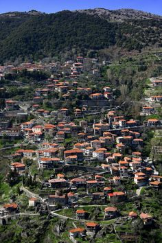 Lagkadia is a mountain village in Arcadia, Peloponnese