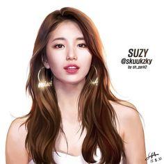 Dedicated fan shares beautiful drawings of Suzy Korean Beauty, Asian Beauty, Suzy Drama, Miss A Suzy, Bae Suzy, Beautiful Drawings, Girl Day, Korean Model, Beautiful Asian Girls