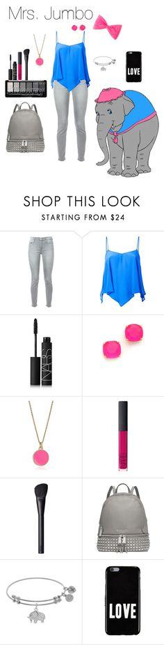 """""""Mrs.Jumbo"""" by crystalgems125 ❤ liked on Polyvore featuring 7 For All Mankind, Roberto Collina, NARS Cosmetics, Kate Spade, Michael Kors and Givenchy"""