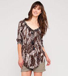 Sommer-Bluse in der Farbe braun bei C&A
