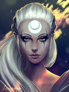 Bring down the sun! - Diana, League of Legends by LenamoArt.deviantart.com on @DeviantArt