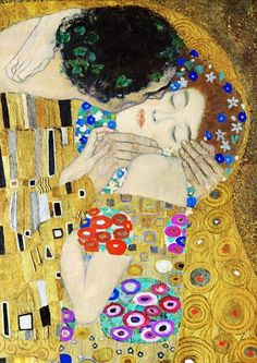 Gustav Klimt - The Kiss (detail) Art Print by Richard Deen - X-Small Art Nouveau, Klimt Art, Detail Art, Renoir, Art Plastique, Picasso, Monet, Framed Art Prints, Vintage Posters