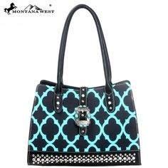 Montana West Turquoise Concho Collection Clover Handbag