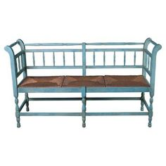 Check out this item at One Kings Lane! Provence Bench, Sky Blue 61w 35h 19d