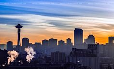 Space Needle & Industry Sunrise by Conor Musgrave, via 500px