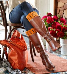 Pretty Crochet Boot Cuffs: free pattern