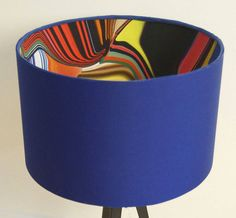 blue retro 60's pop designer drum lampshade by lampara | notonthehighstreet.com