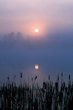Misty Sunrise in Otley, England.