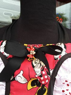 Gorgeous Minnie Mouse Panel Apron (390) by MothersApronString on Etsy