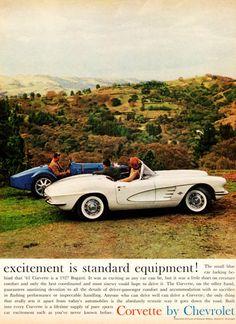 1961 Chevrolet Corvette Excitement 1961 cars until 1970. Status symbol, pride and sense of freedom.