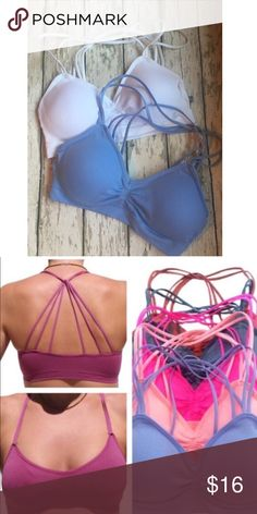 2 AROUND THE NECK STRAPPY BRALETTES ONE SIZE 2 AROUND THE NECK STRAPPY BRALETTES ONE SIZE, removable padding, these are great for wearing with the low back shirts or dresses Intimates & Sleepwear Bras