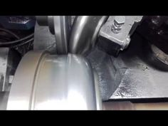Metal spinning stainles steel 1.5mm h-210 www.rosik.pl - YouTube