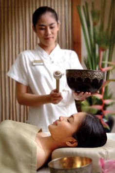 Tibetan Sound Therapy  - RarinJinda Wellness Spa in Bangkok, Thailand.- repinned by touchpointtherapy.com