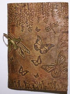 faux leather technique by Sheena Douglass