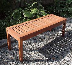 The 8 Best Wood for Outdoor Bench Slats In 2019 Cedar Bench, Cedar Planter Box, Patio Bench, Deck Design, Wood Design, Unpainted Furniture, Wood Furniture, Furniture Ideas, Sandblasted Wood