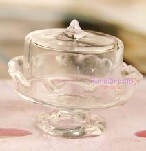 Dollhouse Miniatures Glass Transparent Dessert Pot Plate Jar Artwork(China (Mainland))